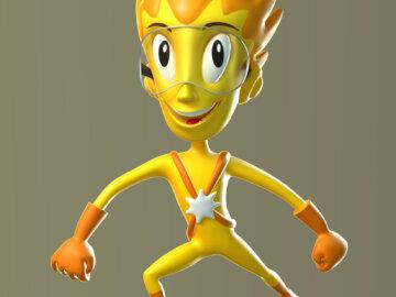 Hvězdík, 3D maskot vitaminových tablet pro děti