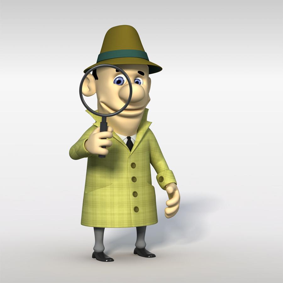 Maskot služby Sting Detektiv