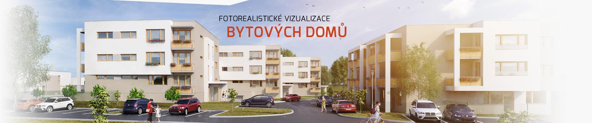 Fotorealistické 3D vizualizace bytových domů