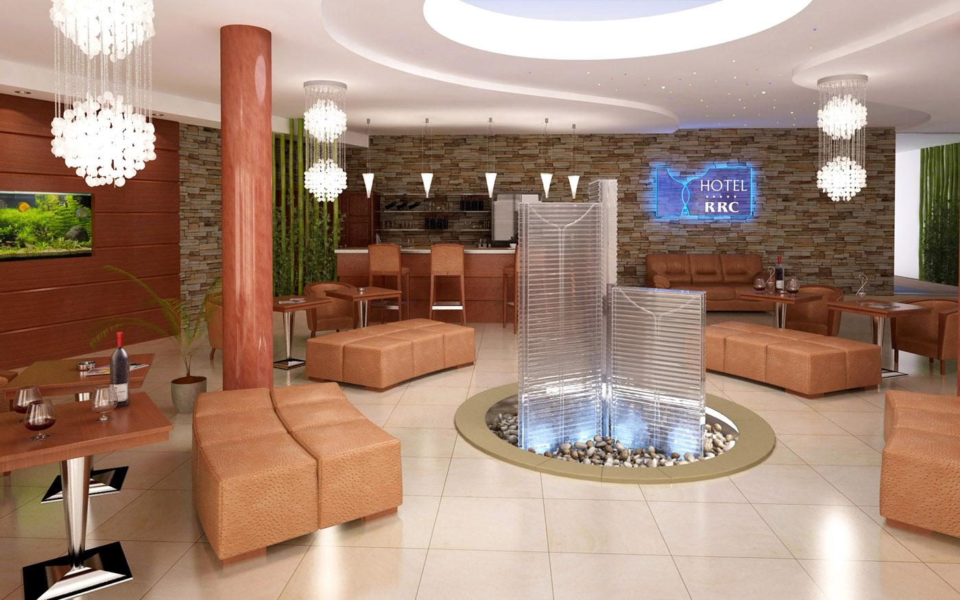 3D vizualizace interiéru hotelu RRC