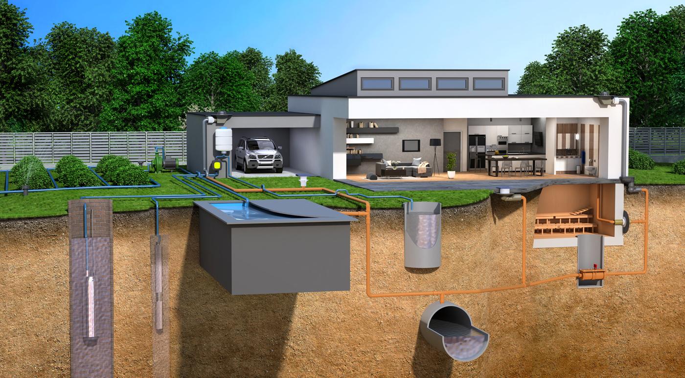 Vizualizace tepelných čerpadel amožností vytápění rodinného domu do prodejny Elements