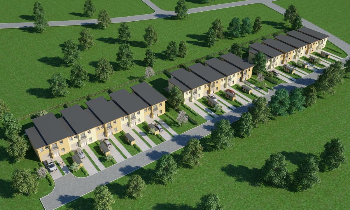 Vizualizace řadových rodinných domů Ostrava-Muglinov