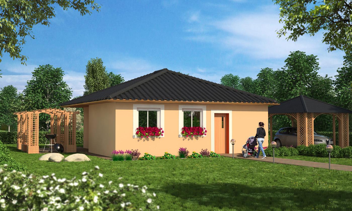 Vizualizace exteriéru projektů rodinných domů firmy Liberohaus