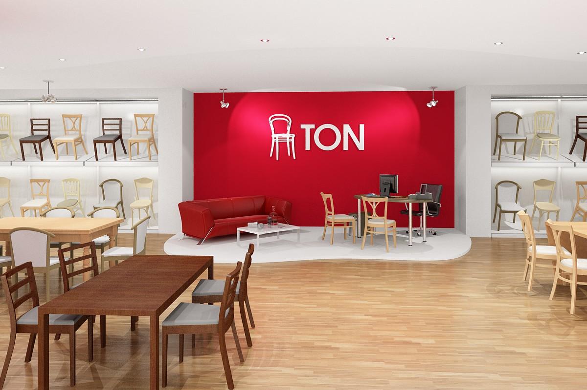 Vizualizace interiéru Showroomu firmy Ton