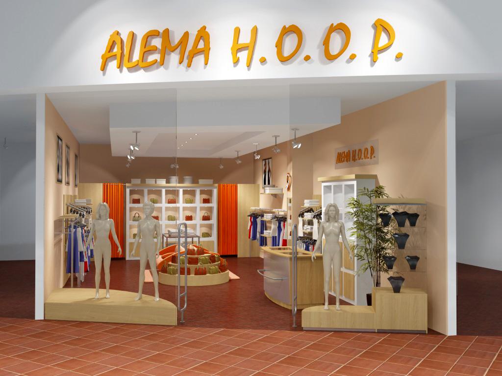 3D vizualizace prodejny ALEMA H.O.O.P. do obchodního centra
