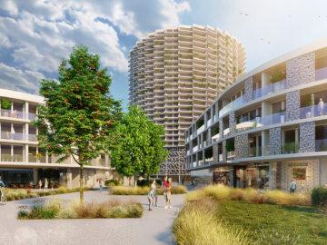 Vizualizace architektonické studie areálu Howden