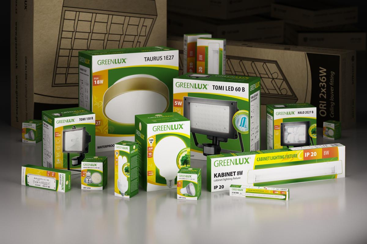 Obalový design produktů firmy Greenlux