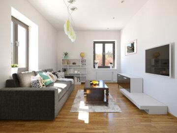 Prodejní vizualizace interiéru bytu Vančurova – typ A