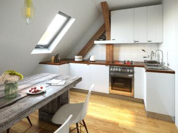 Prodejní vizualizace interiéru bytu Vančurova – typ C
