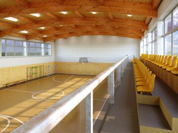 Vizualizace interiéru Sportovní haly Zdiby